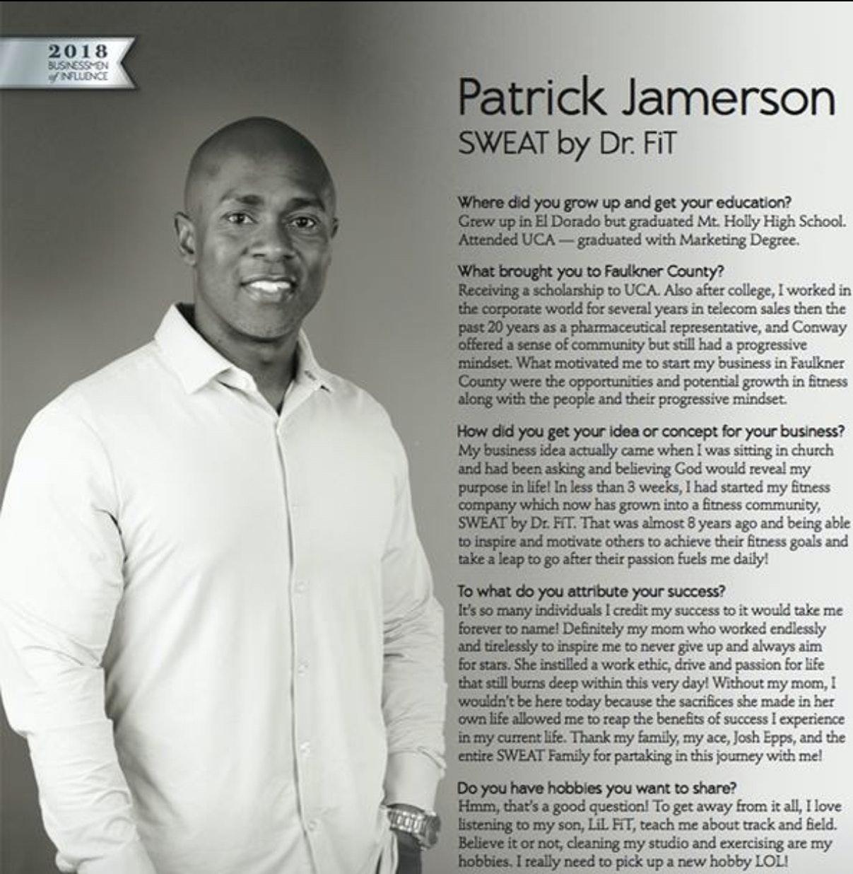 """Patrick """"Dr. FiT"""" Jamerson"""